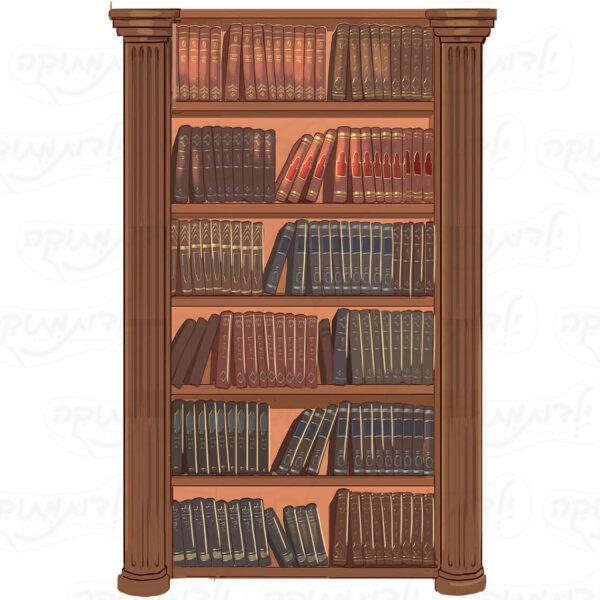 מדבקת קיר - עמודת ספרים לגן